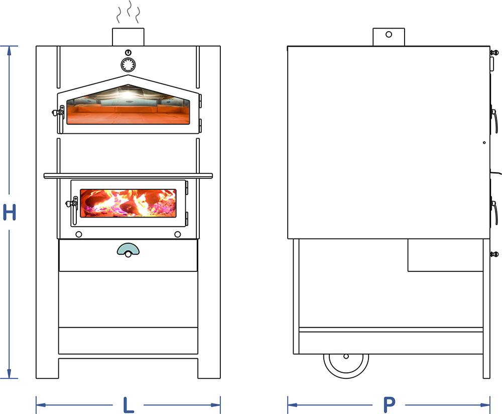 Forni a legna produzione macchine per panificazione for Abbattitore fumi forno a legna